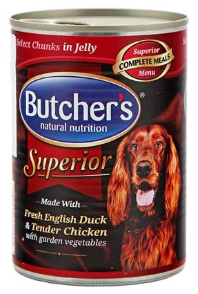 Butcher's Superior z Kaczką, Kurczakiem i Warzywami w Galaretce