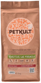 Petkult Sensitive Lamb & Rice Medium Adult