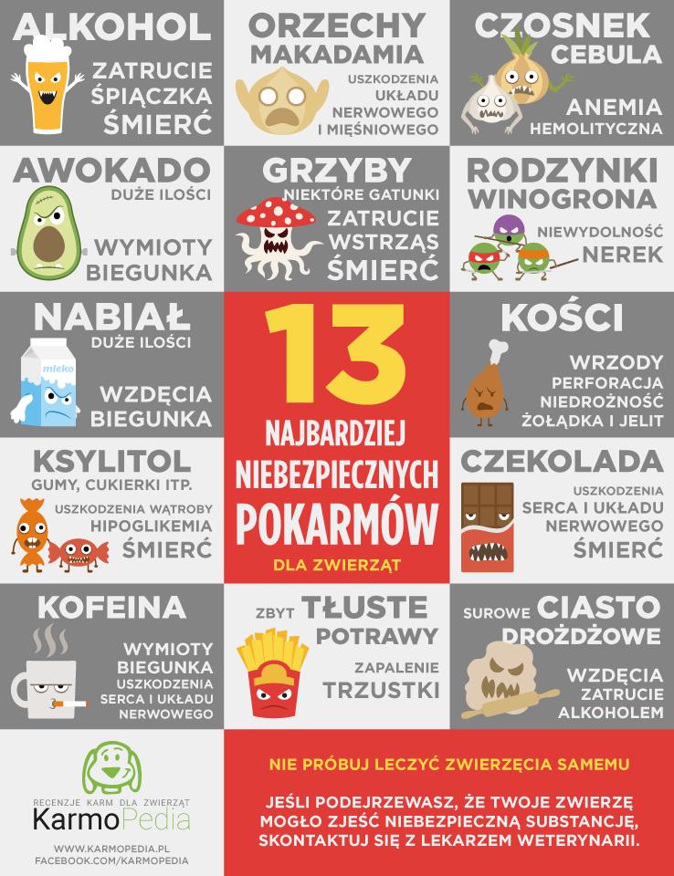 13 Najbardziej Niebezpiecznych Pokarmow Dla Zwierząt